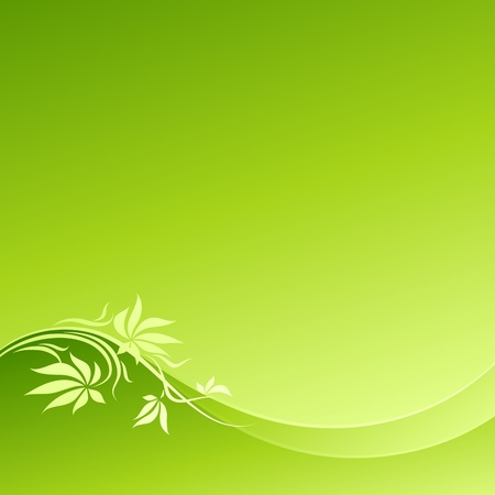 Abstract green floral design. Vector illustration. Vector