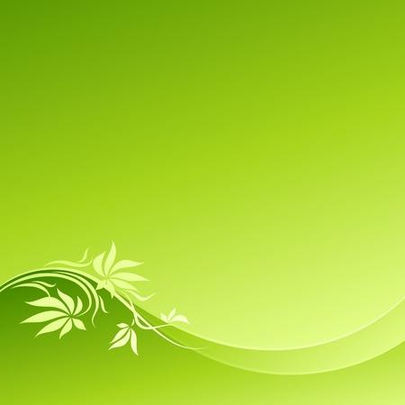 Abstract green floral design. Vector illustration. Vector