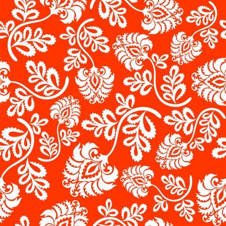 Floral background senza soluzione di continuità. Illustrazione vettoriale.