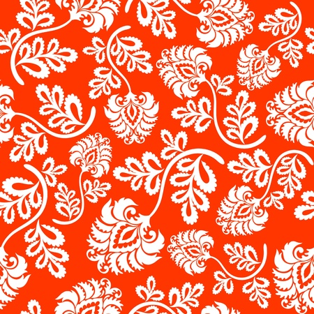 flamboyant: Seamless floral background. Vector illustration.