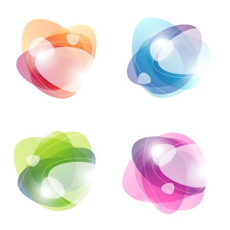 Abstract colorful bubbles. Vector illustration. Vector