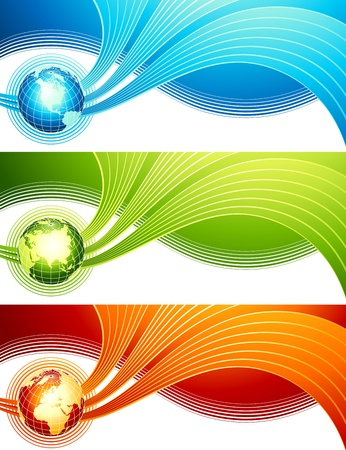 Abstract design with globe. Vector illustration. Vector