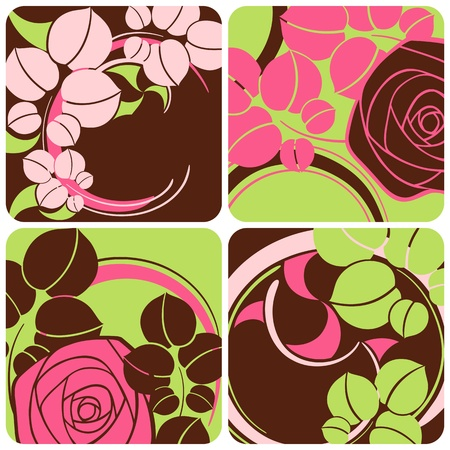 flamboyant: Floral decoration. Beautiful vector illustration.