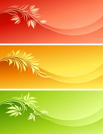 Diseño floral abstracta. Ilustración vectorial.