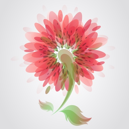 Flower. Colorful vector illustration. Vector