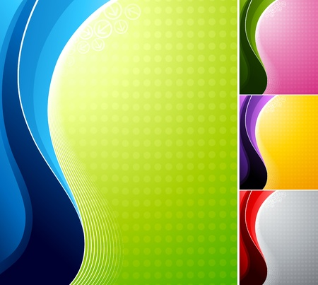 Abstract backgrounds. Vector illustration. Vector