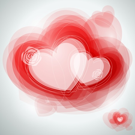 sensitivity: Abstract hearts. Vector illustration. Illustration