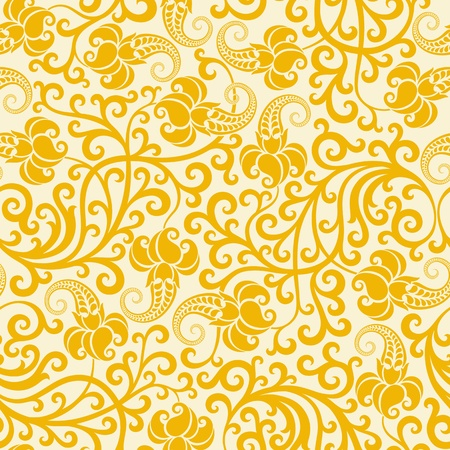 rococo: Seamless floral background.