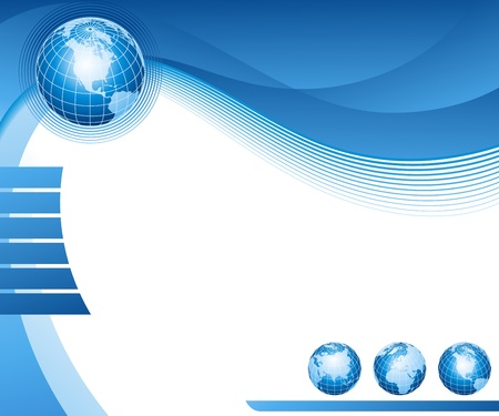 Abstract background with globes. Vector