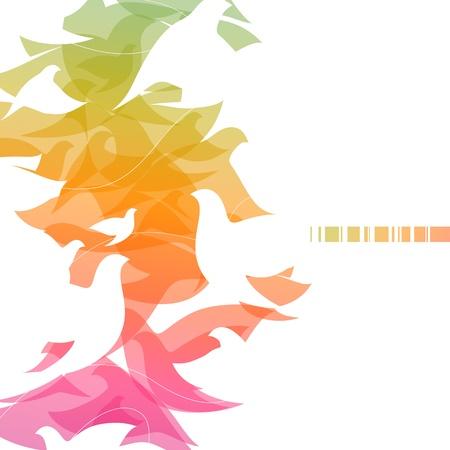 beak doves: Doves. Abstract design.  Illustration