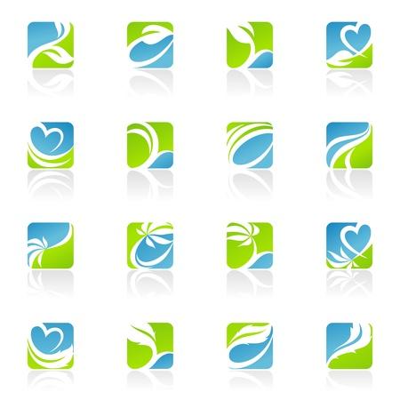 lindeboom: Bladeren.  Stock Illustratie