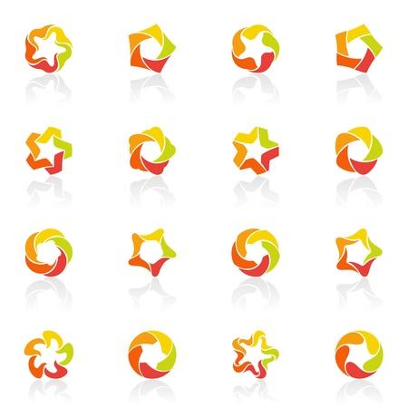 estrellas cinco puntas: Estrellas de cinco puntas.