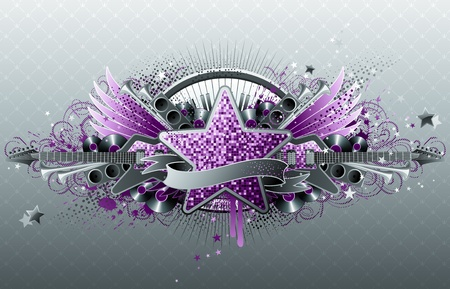 rock music: Abstract party design.  Illustration
