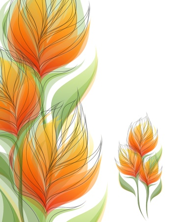 Flowers. Colorful backgrounds. Vector illustration.