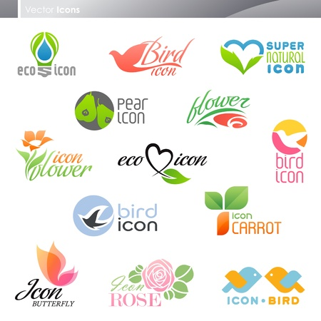 Nature. Icon set. Elements for design. Vector