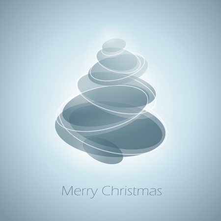 gray cards: Abstract shiny christmas tree. Vector illustration.