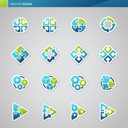 Abstract geometrical icons. Vector logo template set. Stock Vector - 10871932