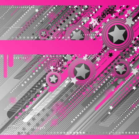 Abstract design with stars.  Vector
