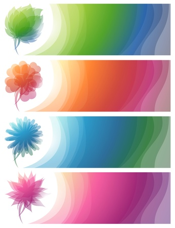 Nature. Abstract colorful banners. Vector illustration. Vector
