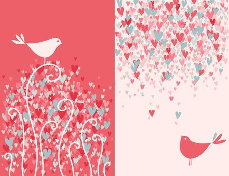 romantic: Two pretty love birds.