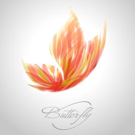 mariposa: Brillante mariposa con rayas rojas