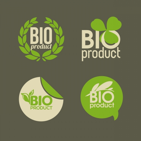 brand tag: Bio product - labels and badges