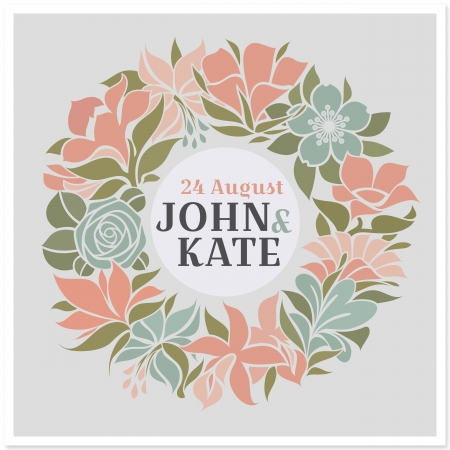 Floral wreath - wedding design