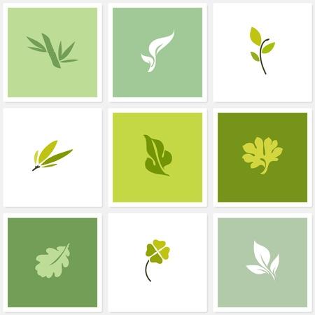 List Vektorové logo šablony nastavit design prvky