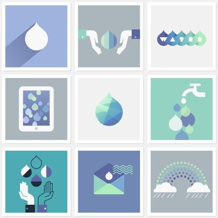 Giọt nước. Thiết lập các yếu tố thiết kế