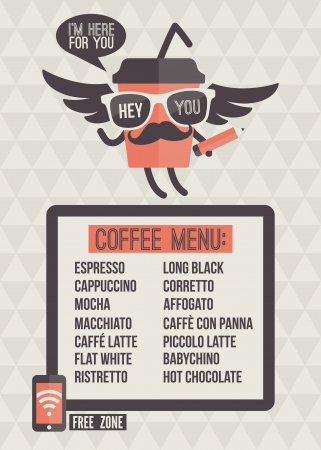 Cafe menu  Seamless background and design elements Illustration