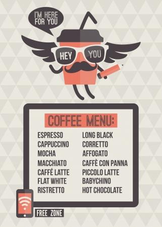 Đơn quán cà phê nền đúc và thiết kế các yếu tố