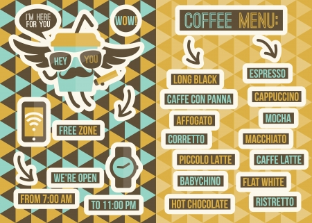 backgrounds: Cafe menu  Seamless backgrounds and design elements