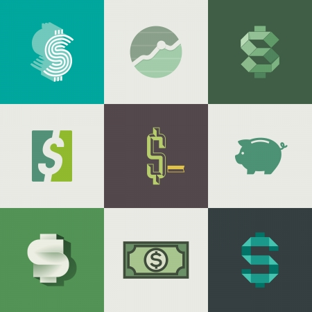 Dollar signs design - illustration