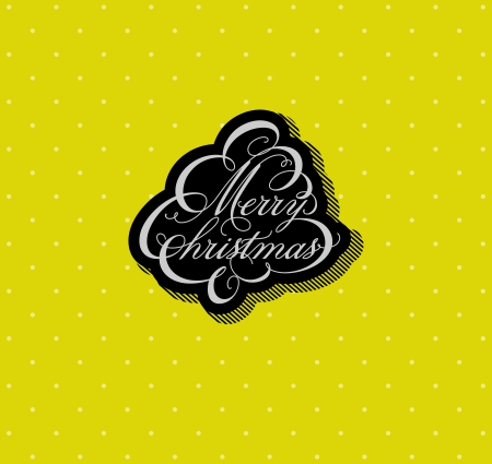 Calligraphic Christmas tree in unusual colors - Vector illustration  Vector