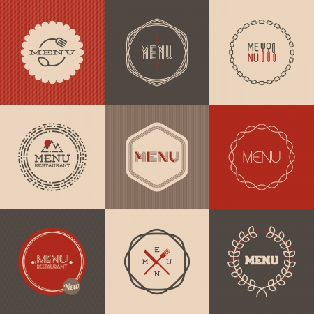 Labels  set for restaurant menu design - Vector illustration
