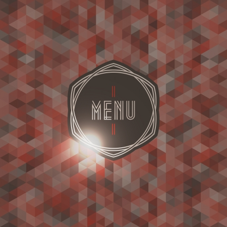 Seamless background with label for restaurant menu - Vector illustration Vector