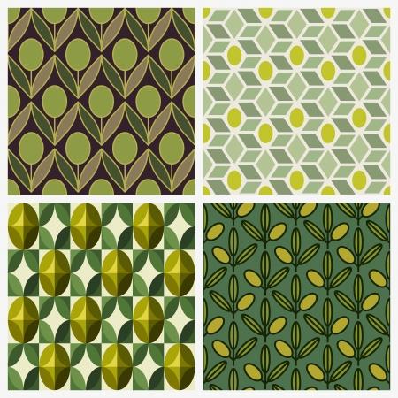 Olive - Thiết lập các vector nền liền mạch