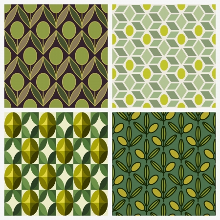 Olive - Set of vector seamless backgrounds