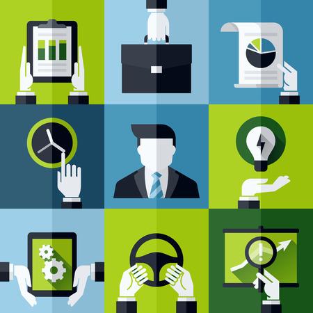 성장: 사업 현대 평면 디자인 개념 - 벡터 디자인 요소