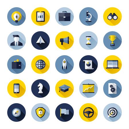 social media marketing: Iconos planos modernos conjunto de SEO sitio web en busca de optimizaci�n y marketing en medios sociales