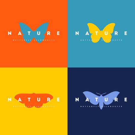 silhouette papillon: Papillon. Ensemble de vecteur icône de la conception des modèles