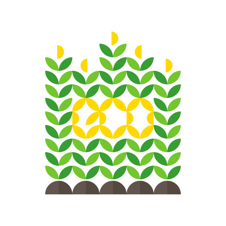 world agricultural: Corn crop and eco lettering Illustration