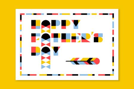 forme: Carte de voeux ou affiche de jour de famille de style plat avec lettrage moderne