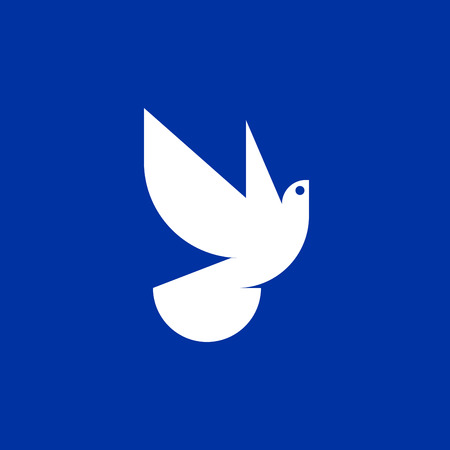 Peace dove icon or logo template Illustration