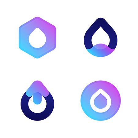 Drops. Cool vector icons  templates set