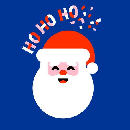 Flat vector icon of Santa Claus saying ho ho ho Illustration