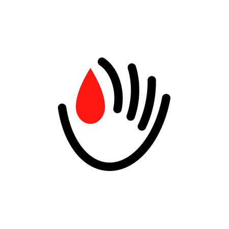 Icon template of donate blood concept for world blood donor day - June 14.