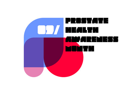 Minimalistic poster or banner of prostate health awareness month