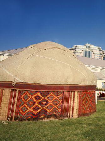 stovepipe: Kazakh nomads yurt tent