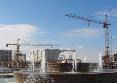 astana: Building in Astana city Stock Photo